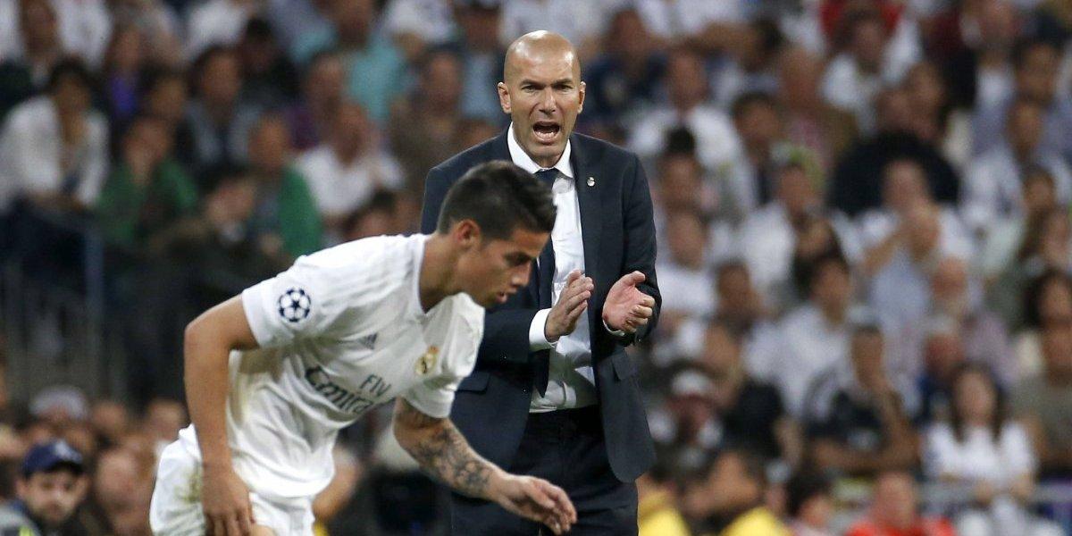 Zinedine Zidane le respondió a James tras su entrevista en El Chiringuito