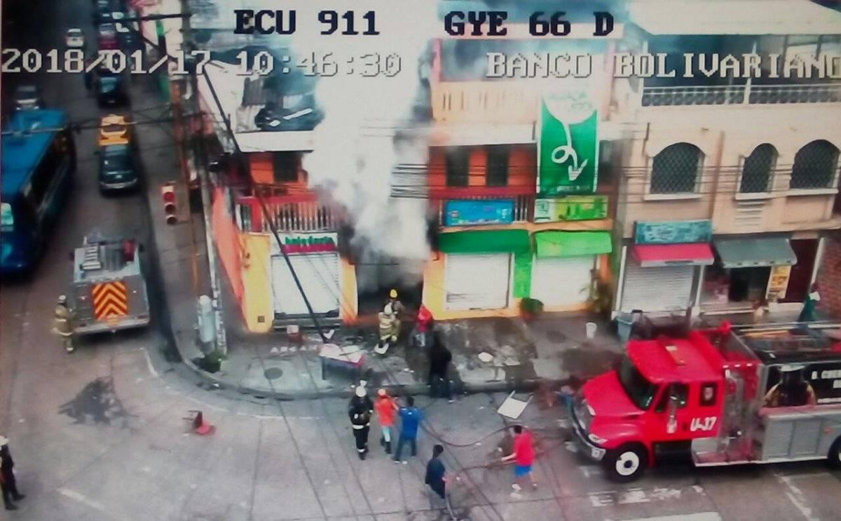 Ecu 911 Incendio en Guayaquil