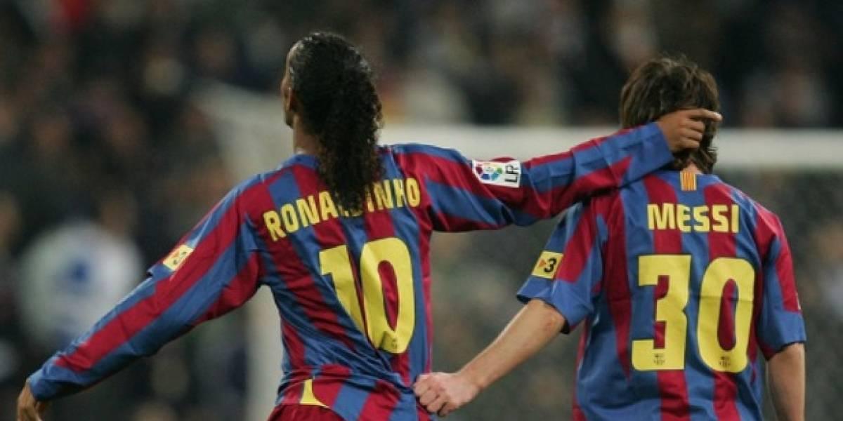 El emotivo mensaje de Messi a Ronaldinho por su retiro