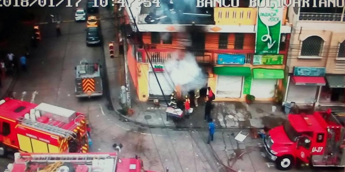 Se reporta incendio en local comercial de Guayaquil