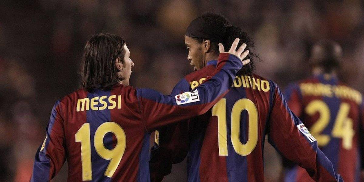 Messi agradece a Ronaldinho por sus enseñanzas