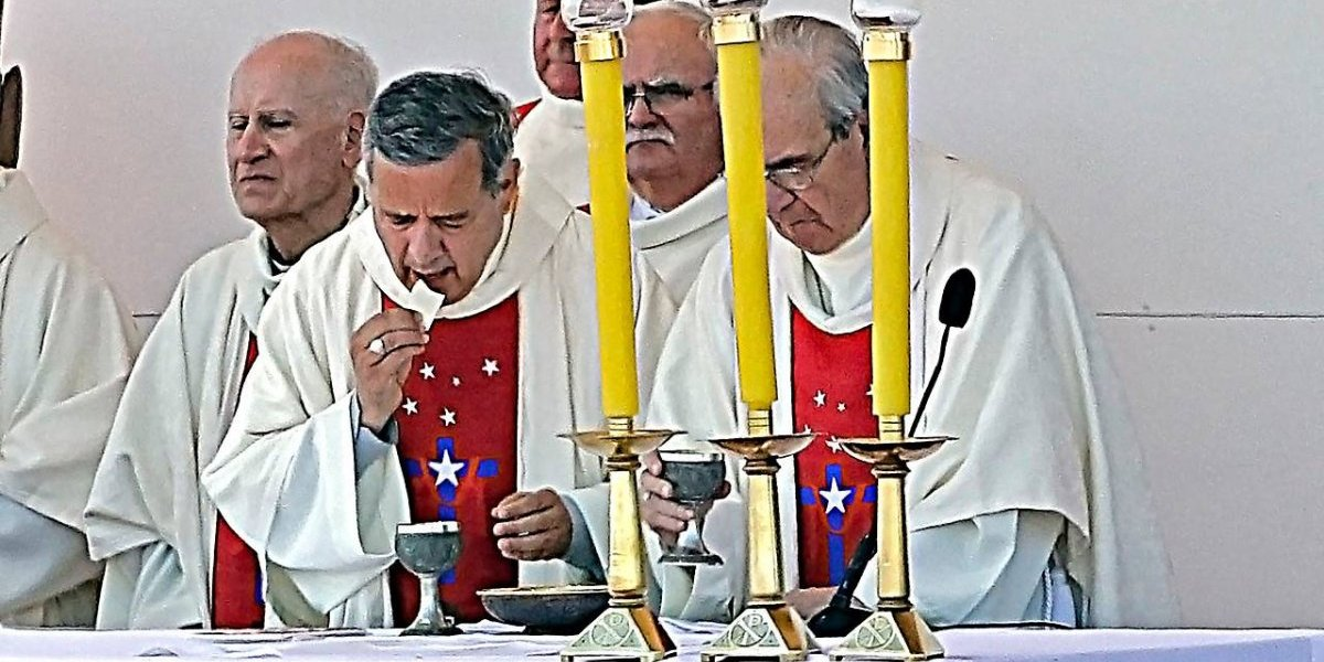 Así fue la participación del obispo Juan Barros en la misa del Papa en Temuco