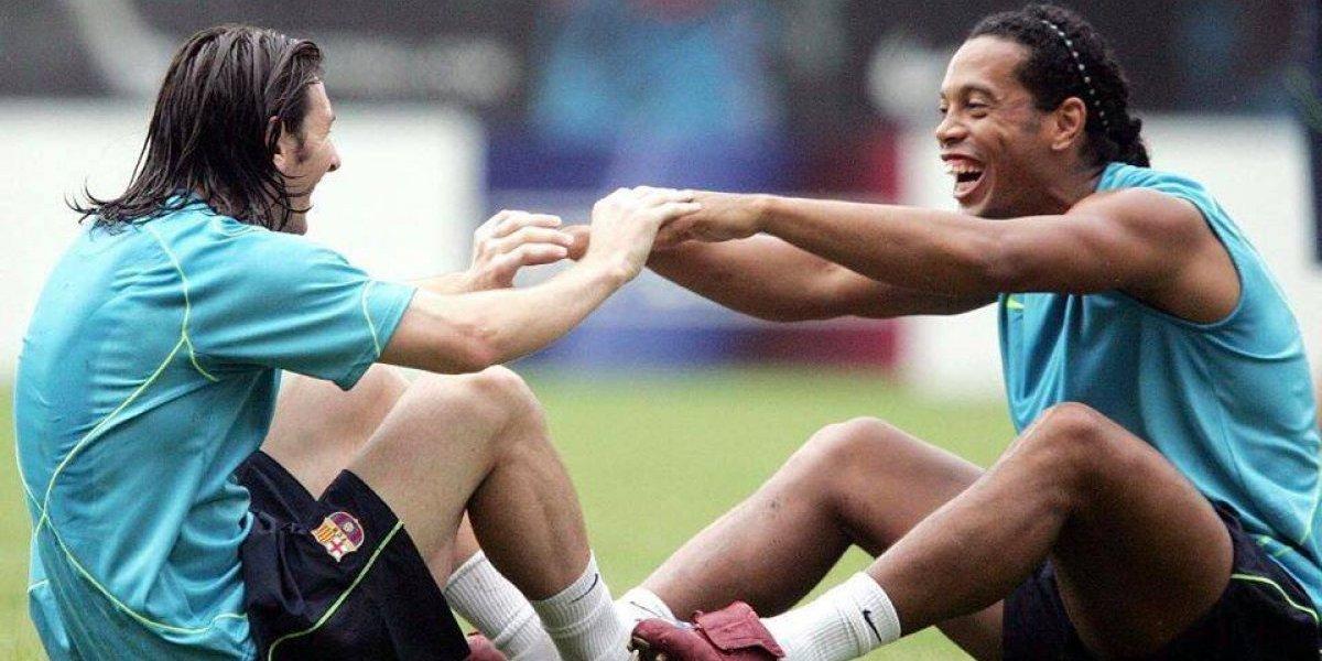 Messi provoca fuertes sentimientos con su mensaje de despedida a Ronaldinho