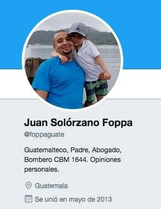 Perfil de Twitter de Solórzano Foppa