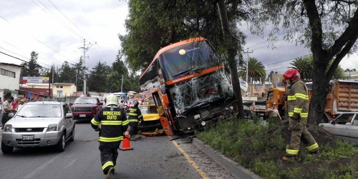 8 heridos tras accidente de tránsito en Pomasqui