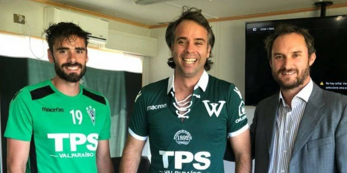 Feña González le dio una mano a su amigo Nico Córdova en Wanderers con una charla motivacional