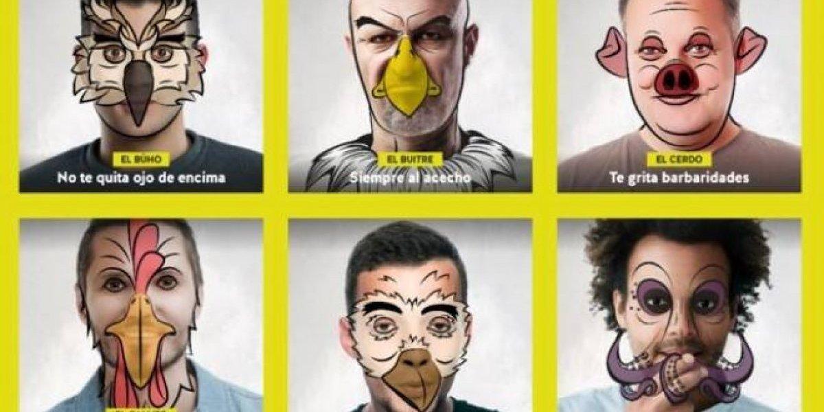 """La llamativa campaña contra el acoso callejero: """"No seas animal"""""""