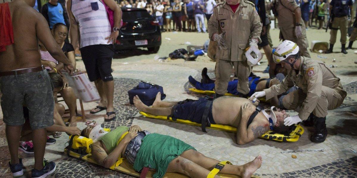 Atropello múltiple en Rio de Janeiro deja al menos un muerto y más de diez heridos