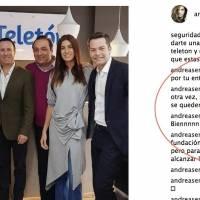 Captura de pantalla Instagram Andrea Serna
