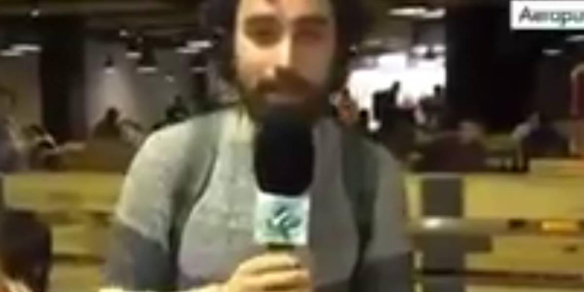Roban reportero mientras transmitía en vivo en el aeropuerto