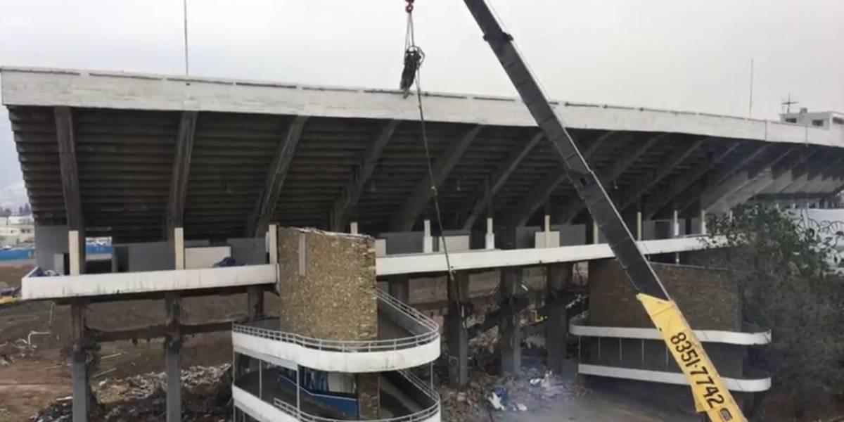 VIDEO: Inicia última etapa de la demolición del Estadio Tecnológico
