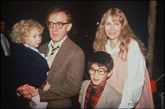 Woody Allen, Mia Farrow y sus hijo