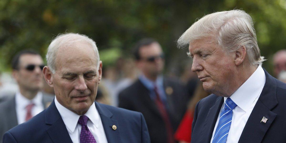 """""""El muro es el muro"""": Trump refuta a John Kelly, su jefe de gabinete"""