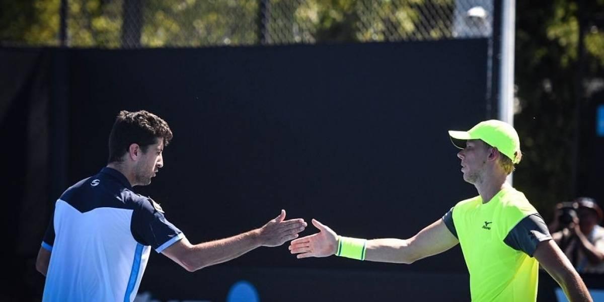Podlipnik ganó en el dobles y es el único chileno con vida en Australia