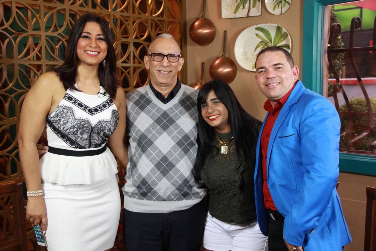 Ivonne Peralta, Wilson Collado y Ross Peña