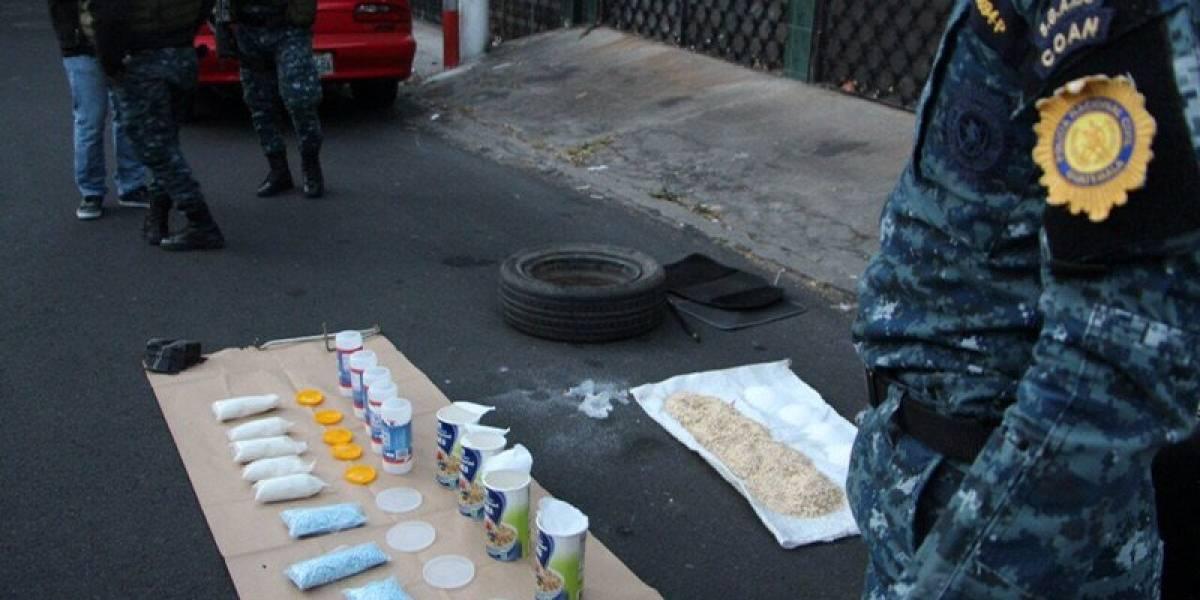 Localizan metanfetaminas en interior de un vehículo en zona 13