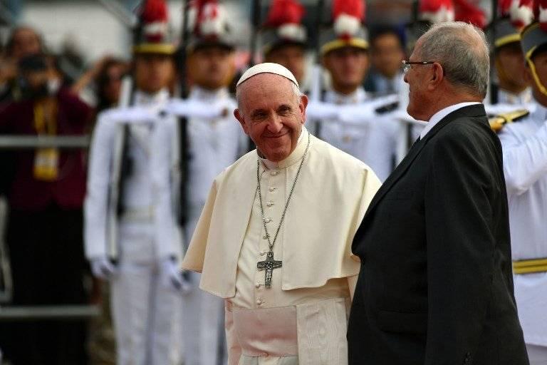 Papa Francisco y Pedro Pablo Kuczynski