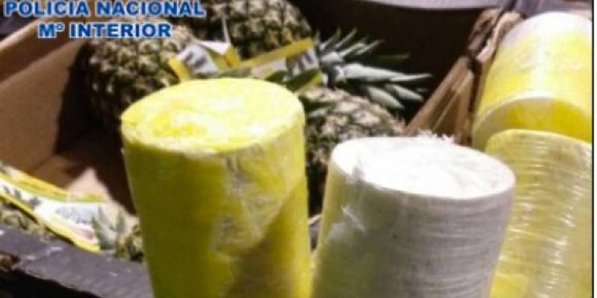 Portugal e Espanha desarticulam quadrilha que traficava cocaína em abacaxis