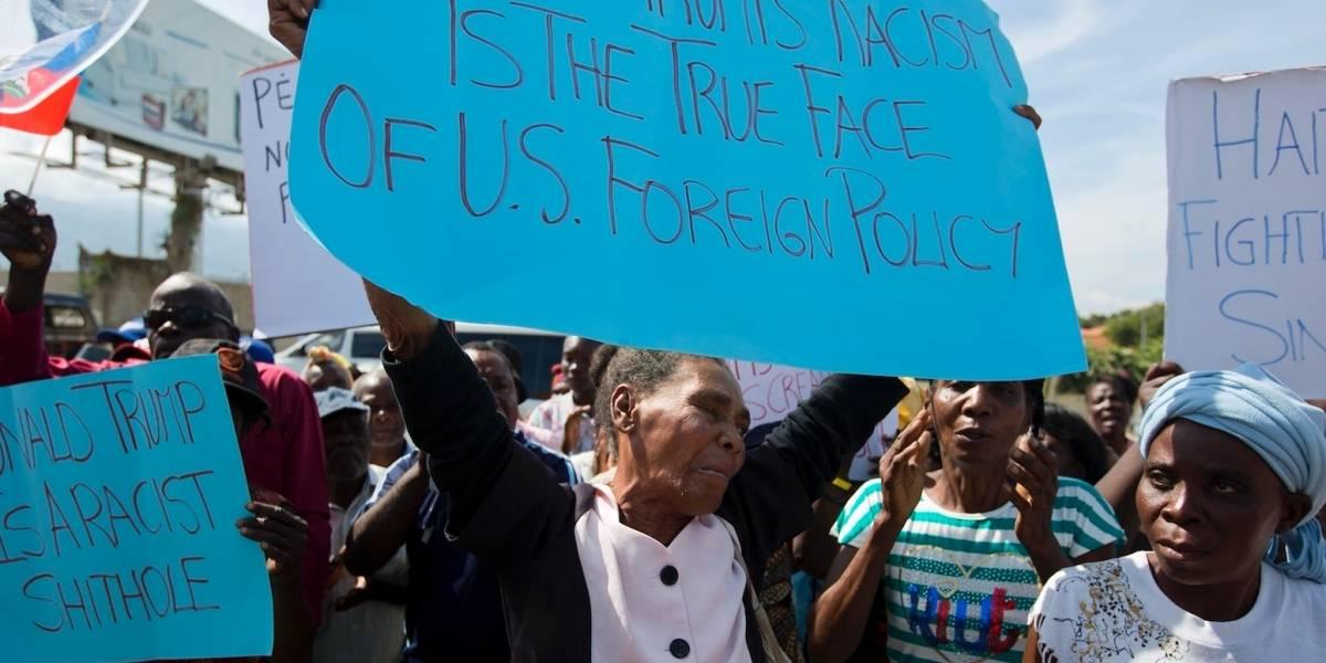 Protestan en Haití contra los comentarios de Trump