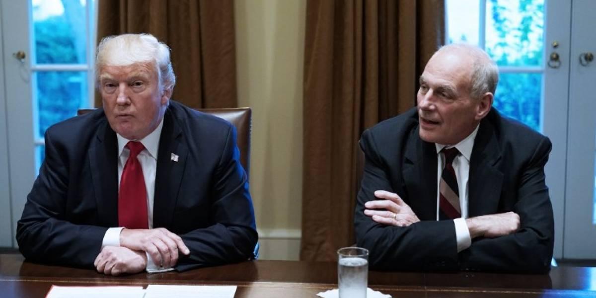 Trump insiste en el muro y contradice a su propio jefe de Gabinete