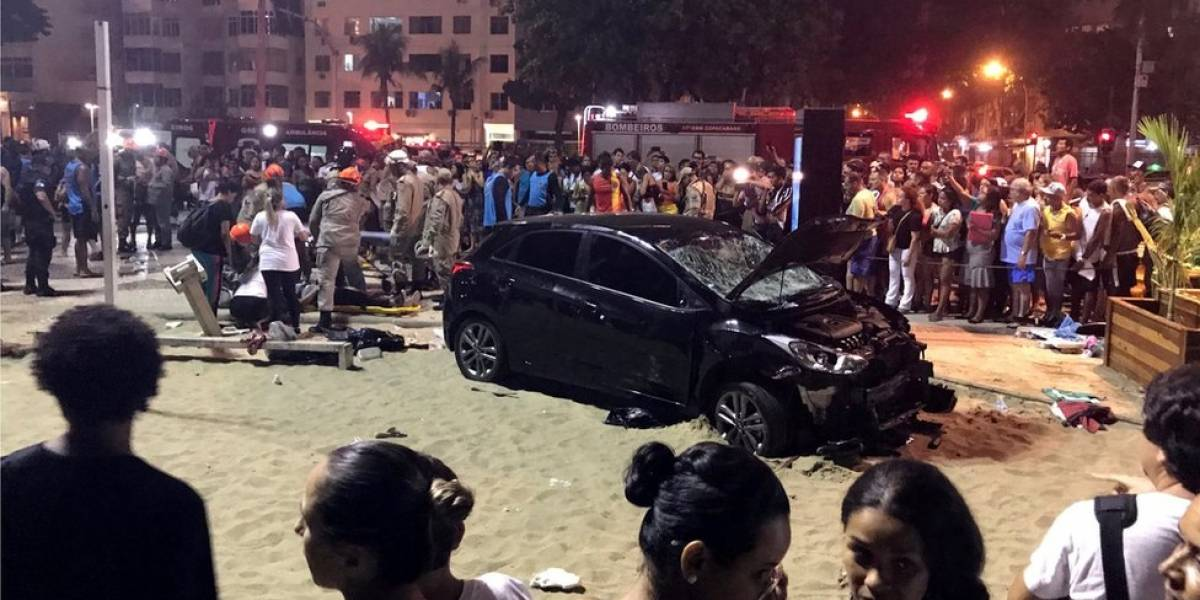 Seis vítimas do atropelamento em Copacabana ainda estão internadas