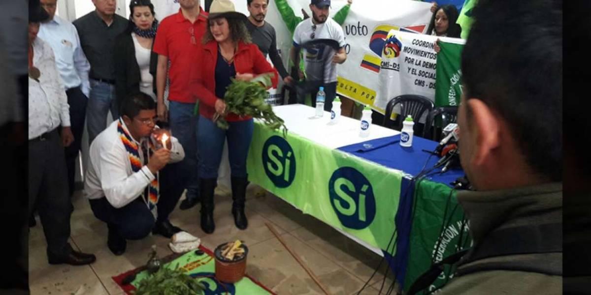 Simpatizantes de Alianza PAIS hacen limpia simbólica del movimiento
