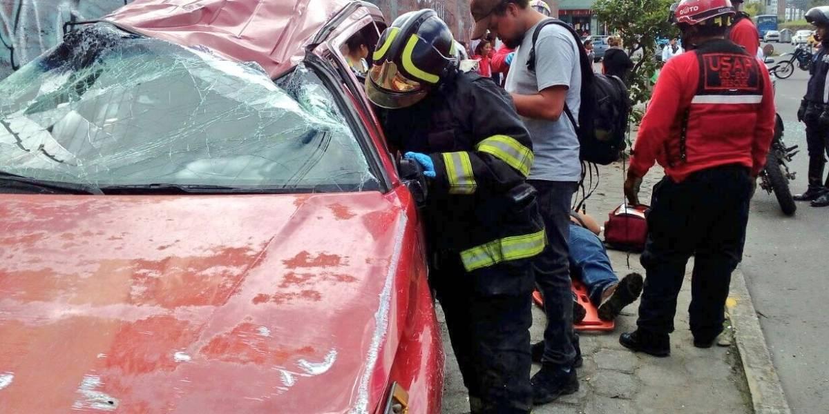 Accidente de tránsito en Quitumbe dejó dos personas heridas