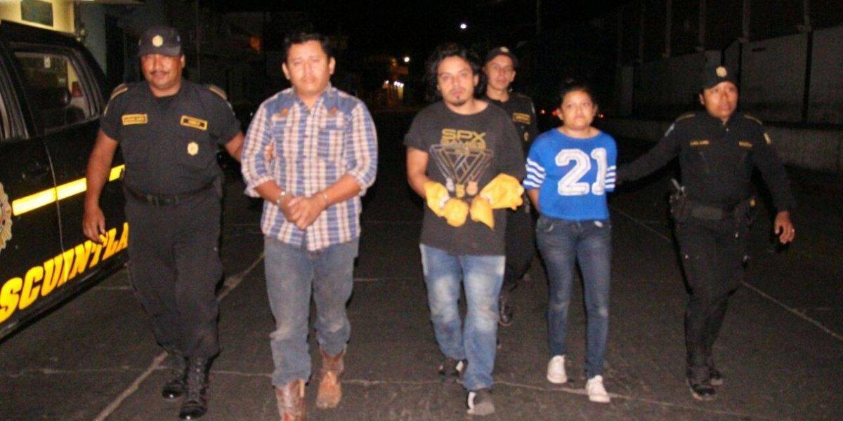 PNC captura a presuntos sicarios momentos después de que cometieran un crimen