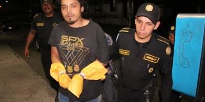 presuntos sicarios capturados en Escuintla