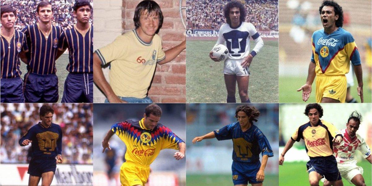 FOTOS: Jugadores que han vestido las playeras de Pumas y América