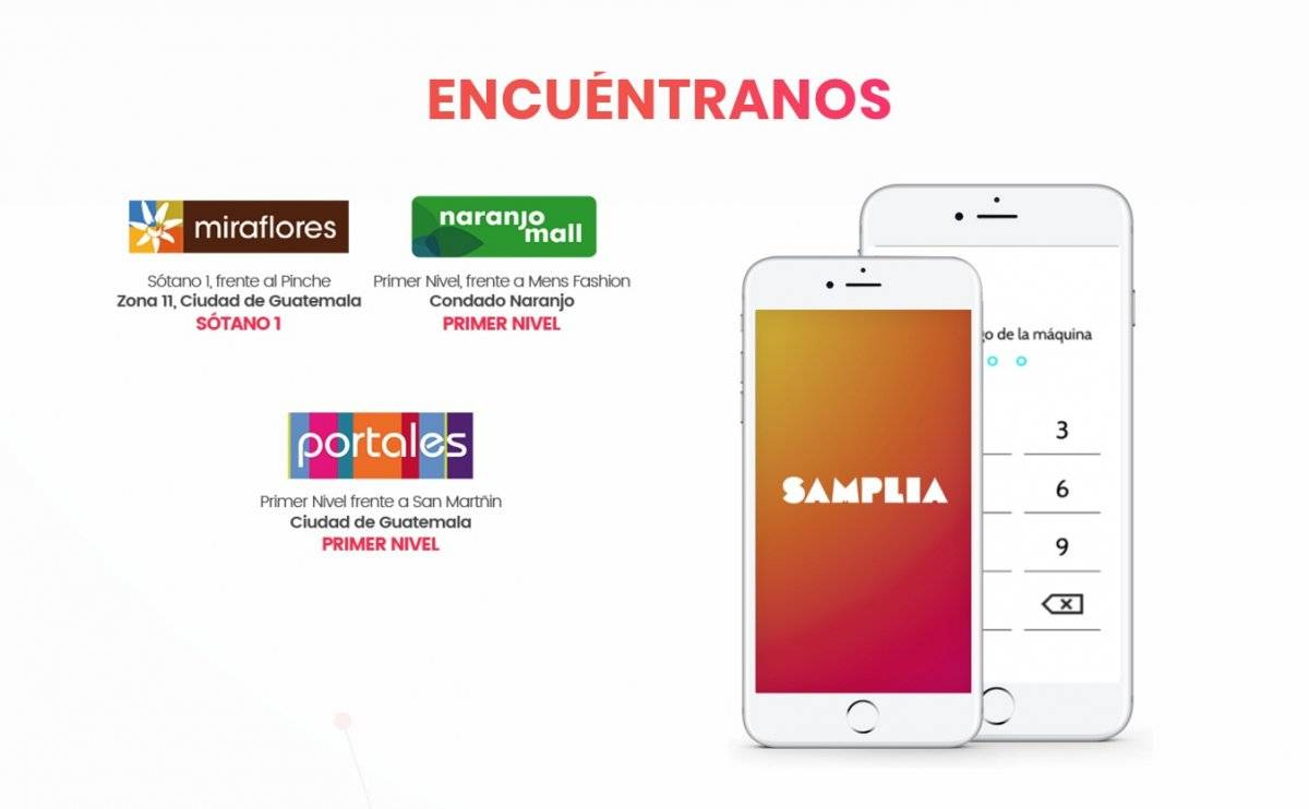 Samplia guatemala en Centros comerciales