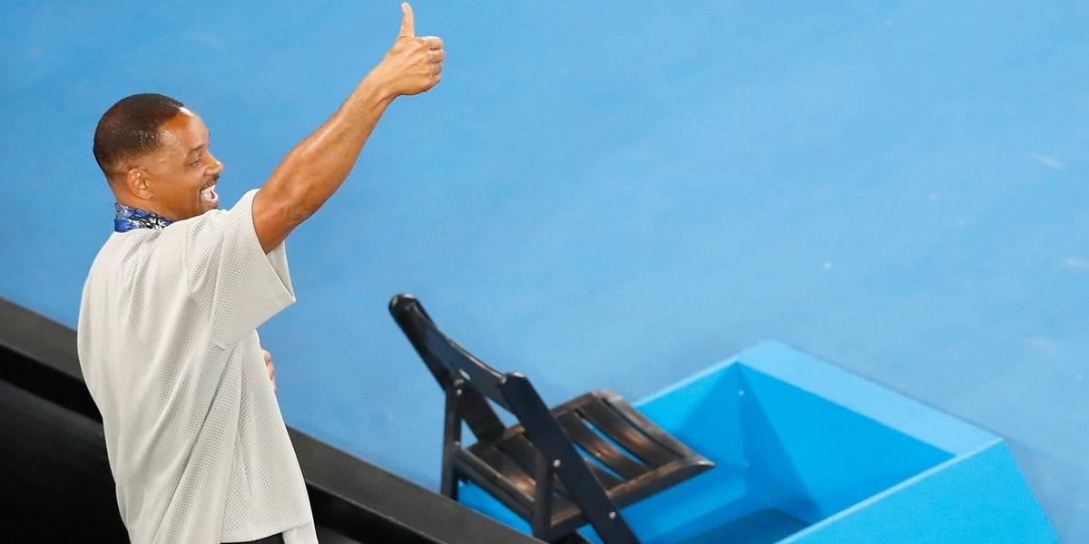 Kyrgios tira sarro de Will Smith no Aberto da Austrália