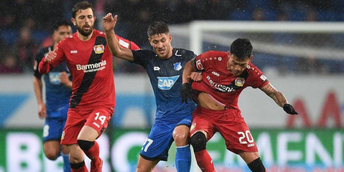 El Leverkusen de Aránguiz quedó segundo en la Bundesliga tras golear al Hoffenheim