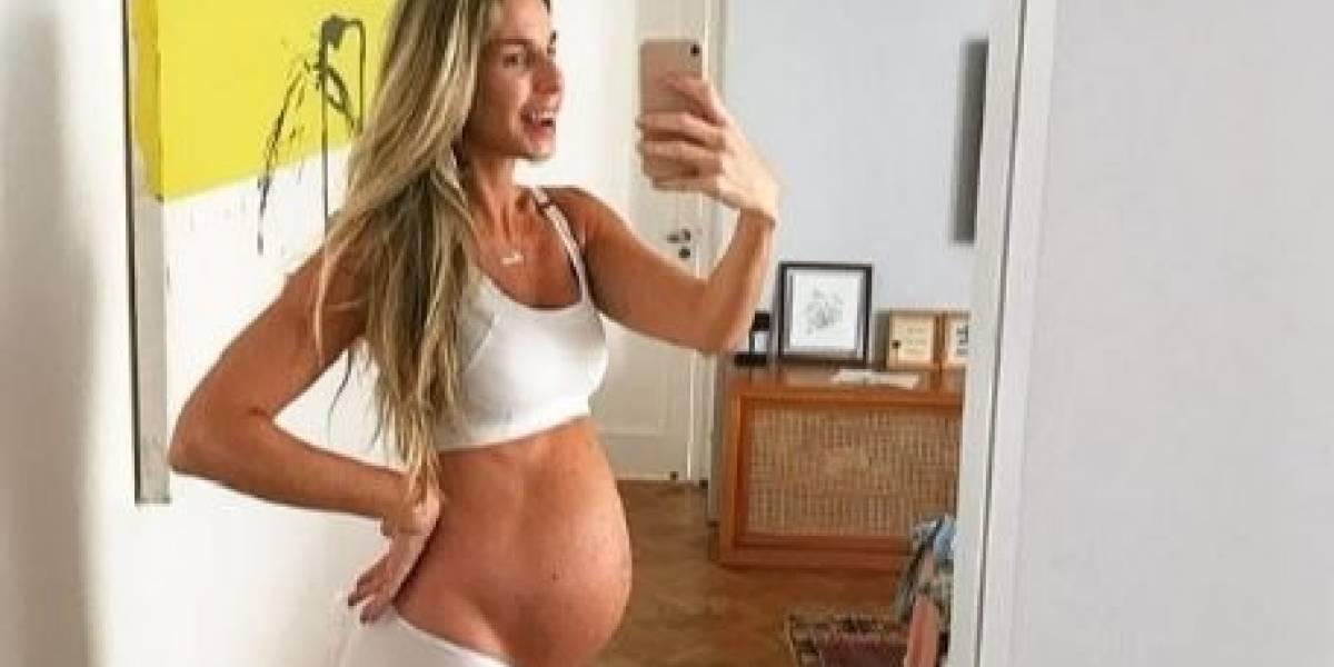 Mariana Weickert mostra barrigão de 36 semanas; veja momentos da gravidez
