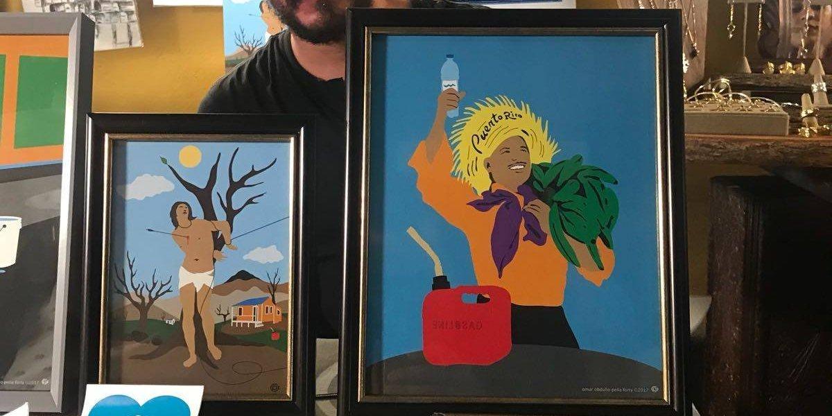 Arte inspirado por el huracán María en las Fiestas de la Calle San Sebastián
