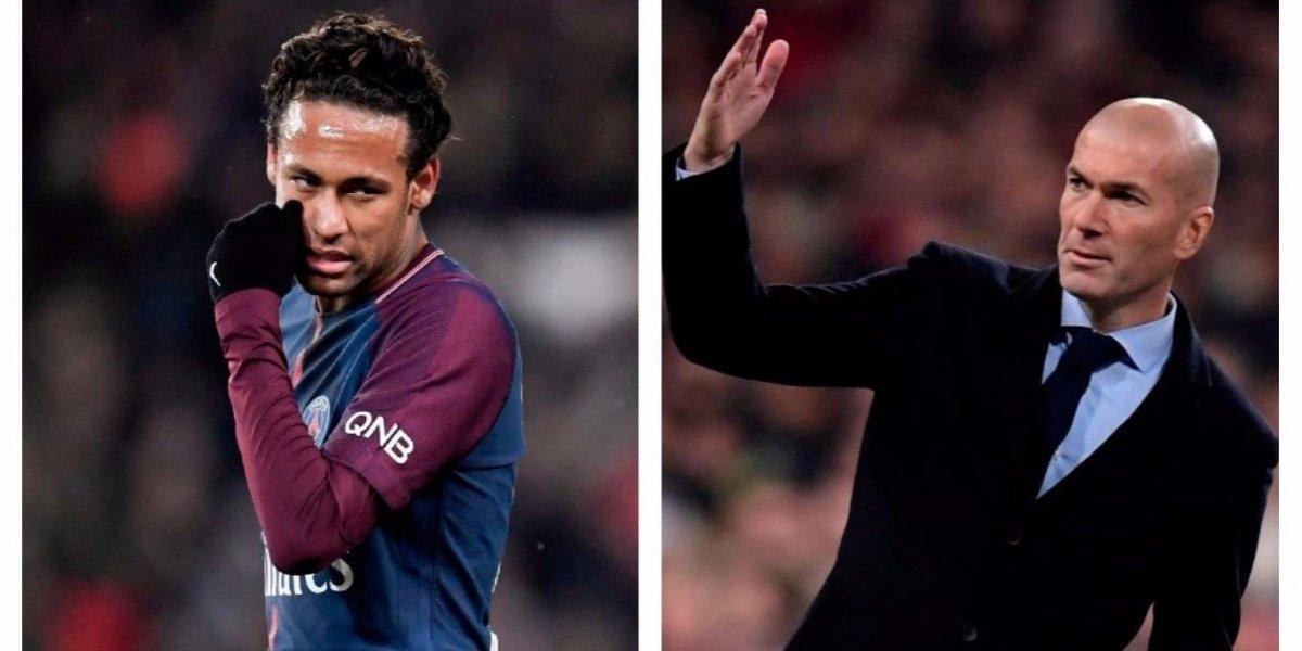 Zinedine Zidane ¿le hace un guiño al posible fichaje de Neymar con el Madrid?