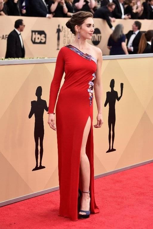 Alison Brie en los SAG Awards Foto: AFP