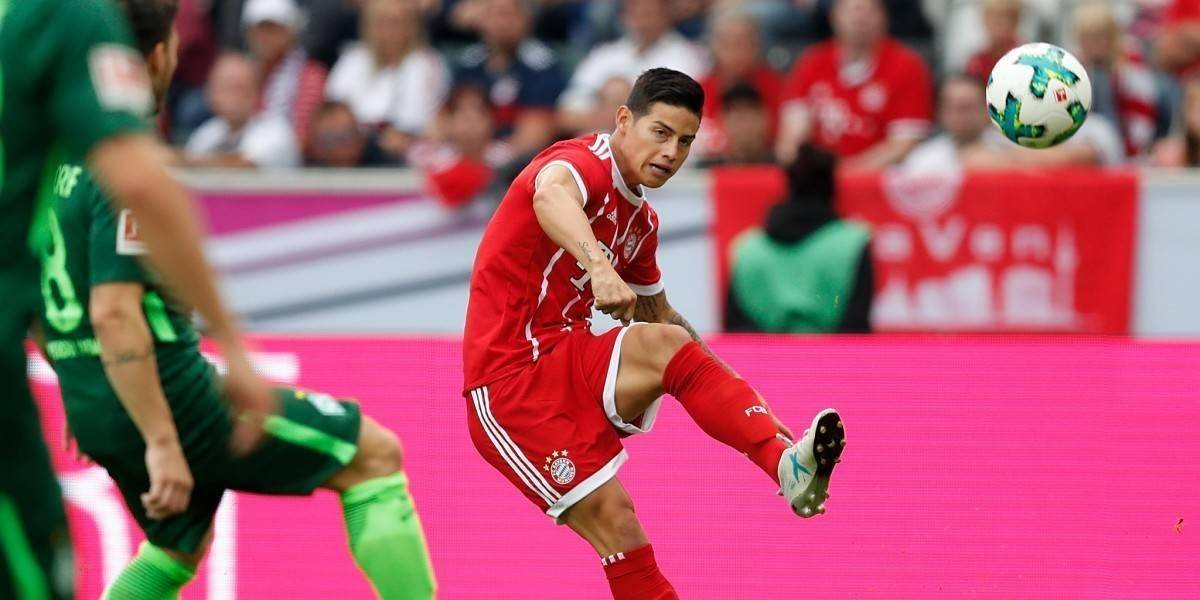 ¡Golazo! James sigue imparable en Alemania y lo demuestra así