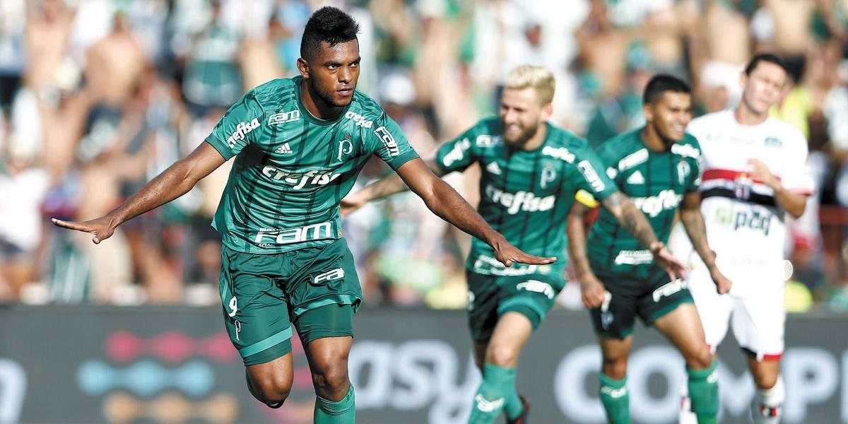 Com gol de Borja, Palmeiras derrota o Botafogo e ganha a segunda no Paulistão