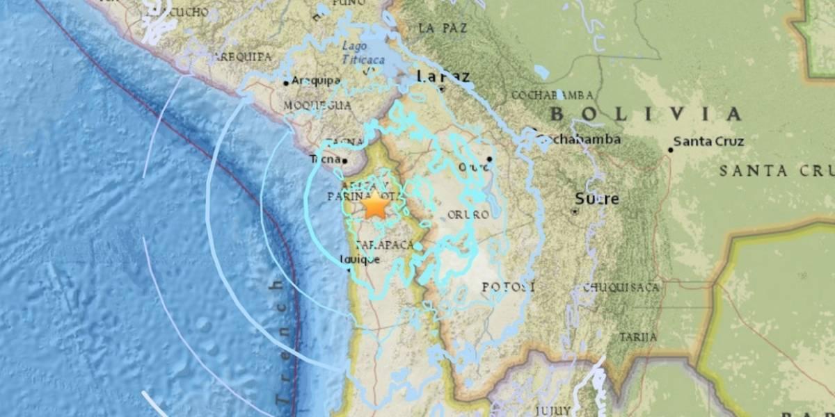 Sismo de magnitud 6.3 sorprende al norte de Chile