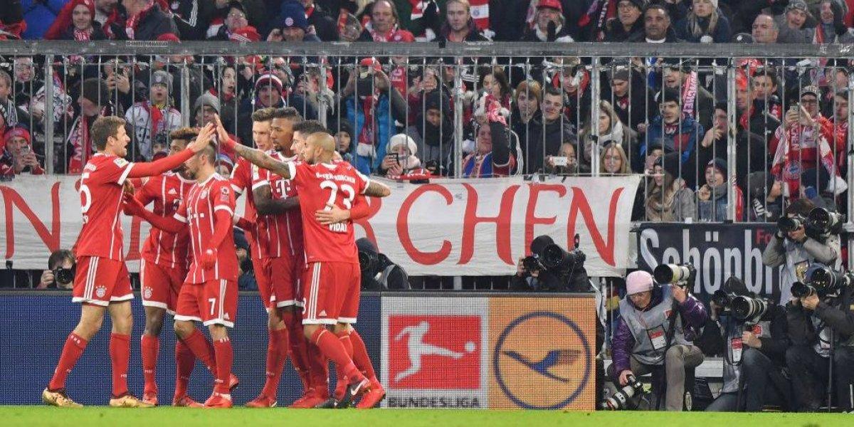 Bayern de Vidal vuelve a golear y saca 16 puntos de ventaja en la Bundesliga