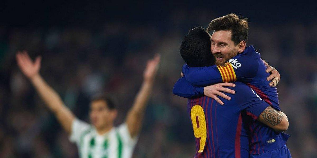 Barcelona goleó a Real Betis y sigue firme en la cima de la Liga Española