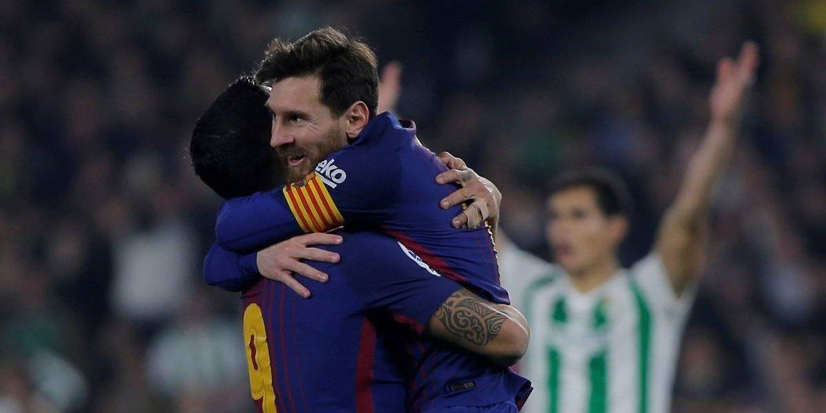 Doblete de Lionel Messi para el 5-0 del Barcelona