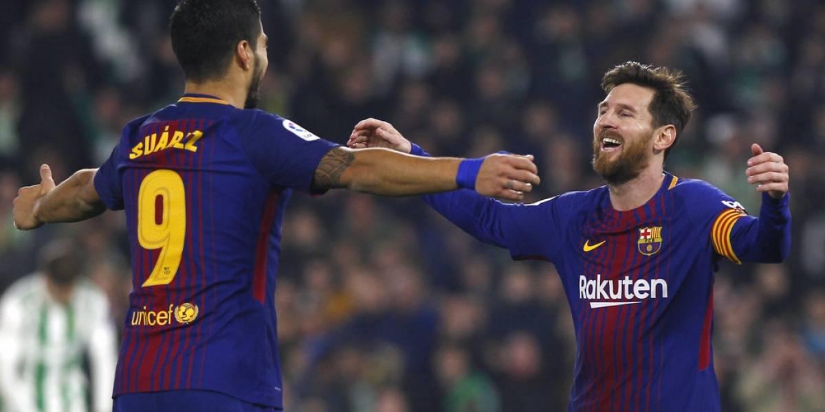Un Barça imparable apabulla al Betis de la mano de Messi y Suárez