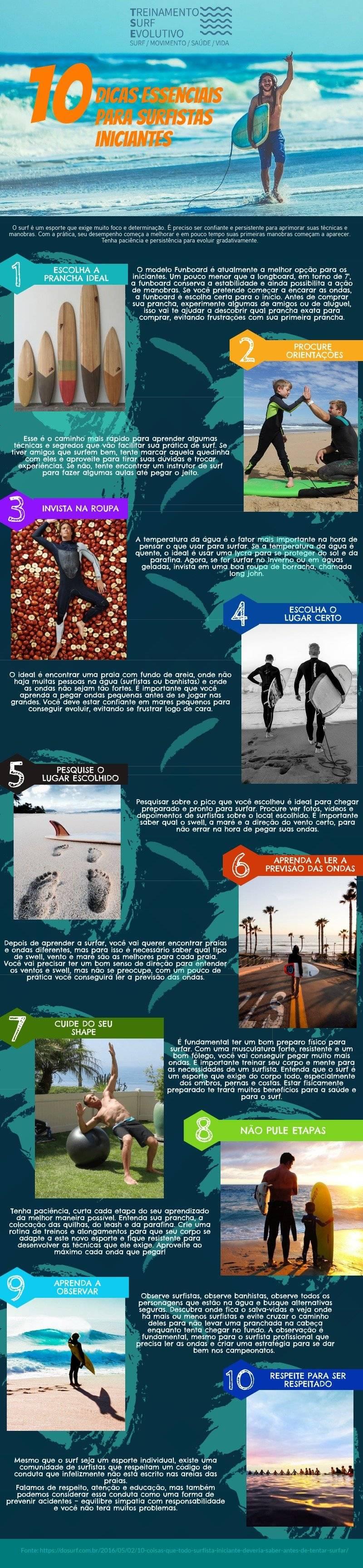 10 dicas para o surfe