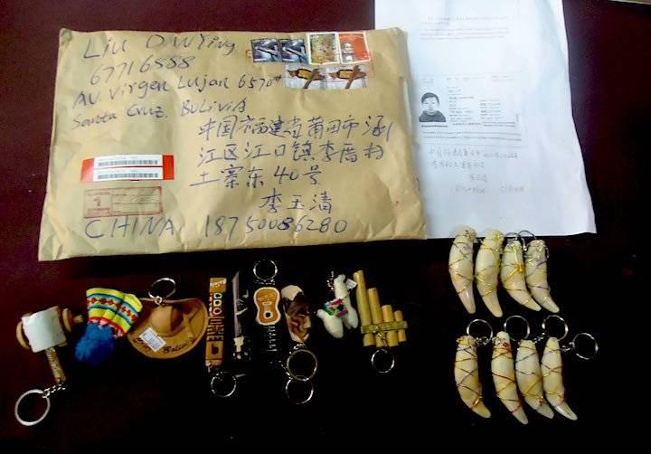 Los remitentes de los envíos a China, en su mayoría, son ciudadanos asiáticos que radican en Bolivia