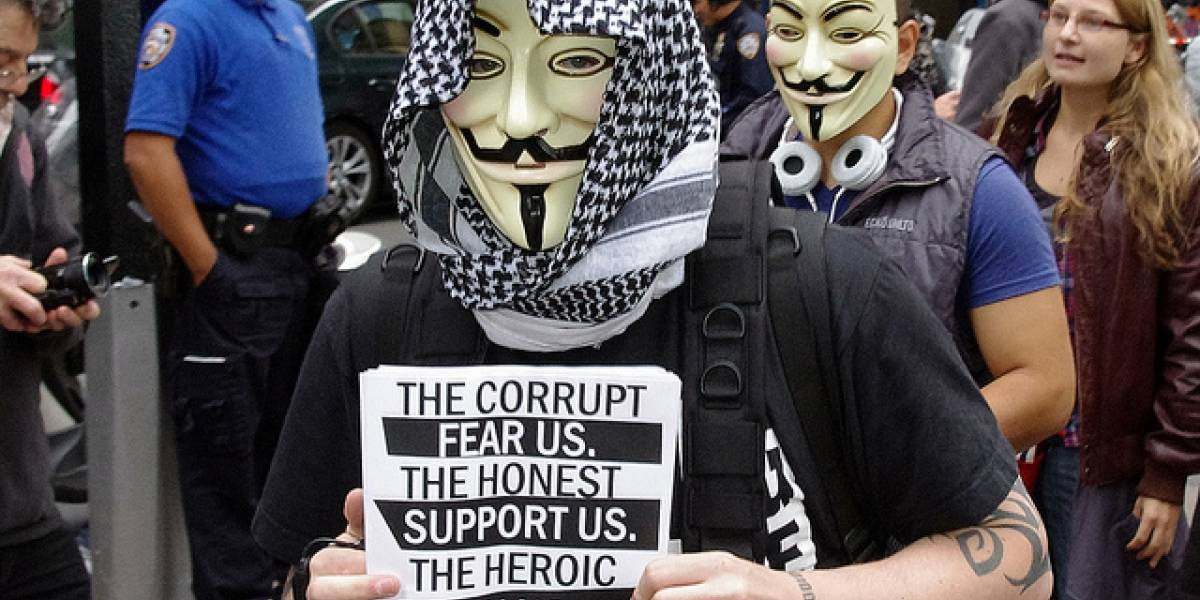 Anonymous amenaza a la cadena Fox News por cobertura tendenciosa de Occupy Wall Street