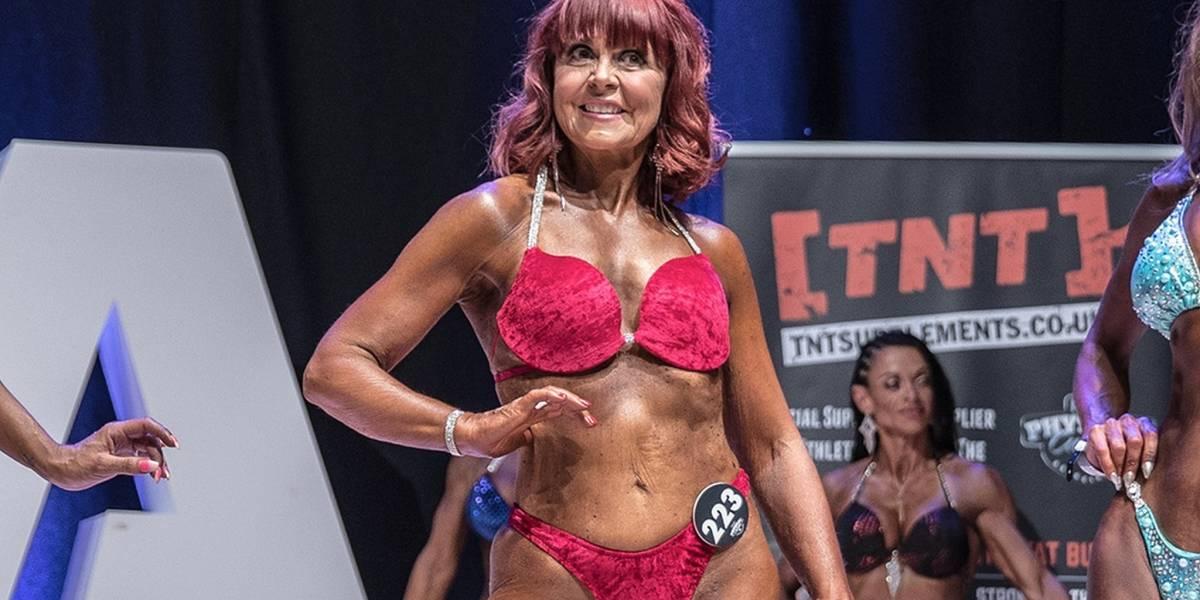 A incrível transformação da mulher que se tornou fisiculturista aos 63 anos