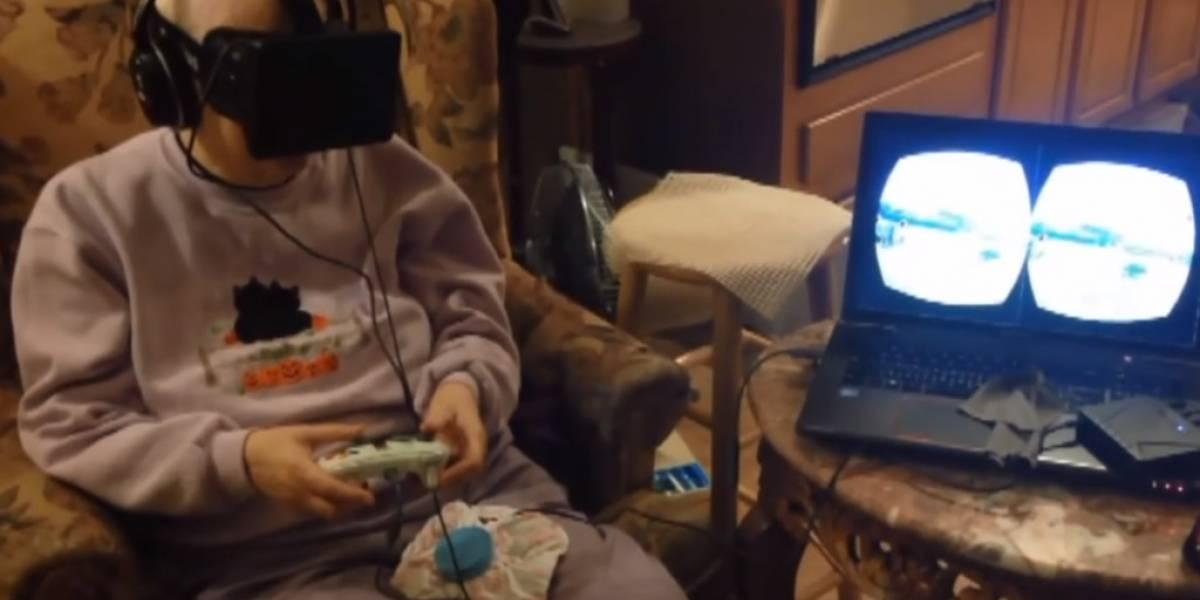 La reacción de una anciana con cáncer terminal al probar Oculus Rift