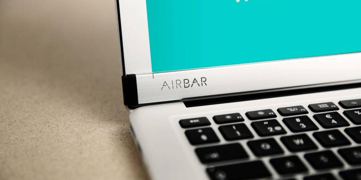 AirBar permite transformar la pantalla de tu MacBook en un dispositivo táctil